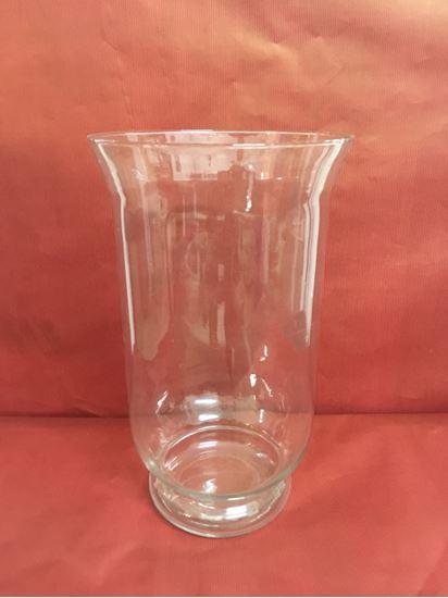 """תמונה של אגרטל זכוכית 17X30 ס""""מ."""
