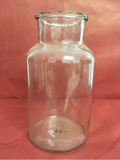 """תמונה של אגרטל זכוכית 10X25 ס""""מ."""