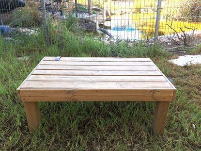 """תמונה של שולחן לגינה, 100X60 ס""""מ."""