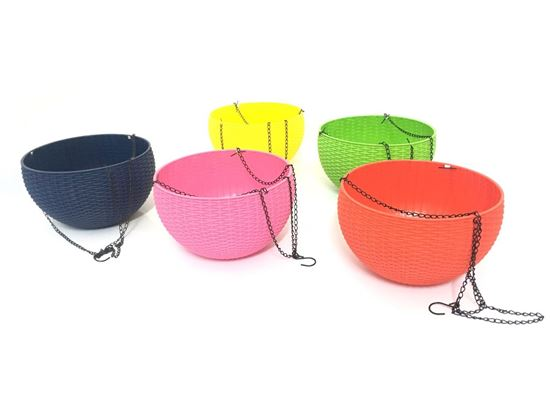 תמונה של עציץ פלסטיק חדשני במגוון צבעים